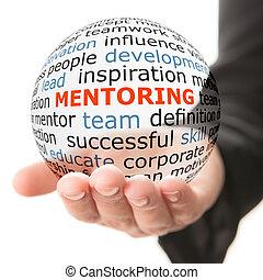 inschrift, kugel, mentoring, durchsichtig