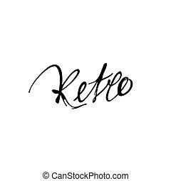 inscrição, caligrafia, feito à mão, palavra, retro