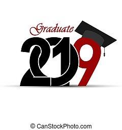 inscrição, parabéns, 2019, graduação, graduado