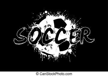 inscripción, blots, resumen, pelota, plano de fondo, futbol...