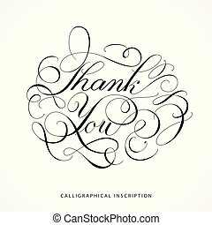 inscripción, calligraphical, gracias