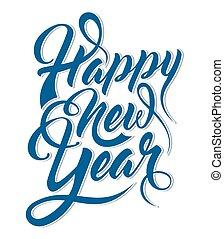 inscripción, feliz año nuevo