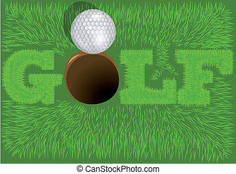 inscripción, golf