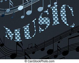inscripción, música