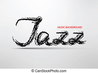 inscripción, resumen, jazz, plano de fondo, '
