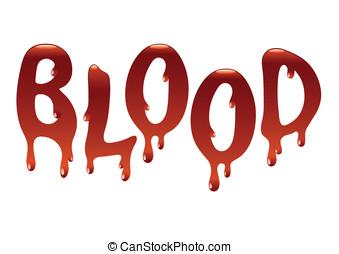 inscripción, sangre