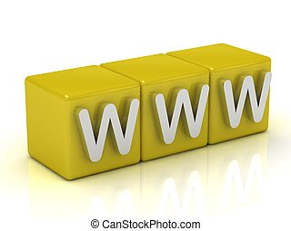 inscripción, www, cubos, gold: