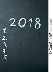 inscription 2018 do it list drawn with chalk on a school...