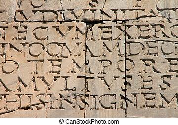 inscription, ancien, latin