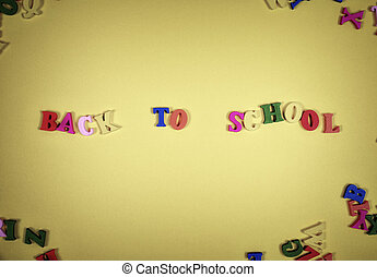 Inscription back to school from the color letters