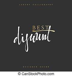 Inscription Best discount Calligraphic handmade.