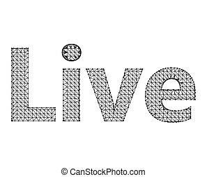 inscription, lattice., live., -, maille, fond, blanc, moléculaire, polygones, structural