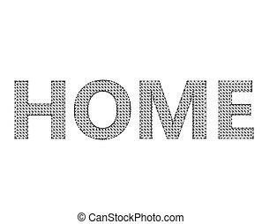 inscription, lattice., -, maille, fond, blanc, moléculaire, home., polygones, structural