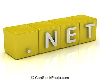 Inscription on the cubes of gold: dot NET