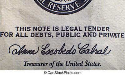 inscription on the dollar
