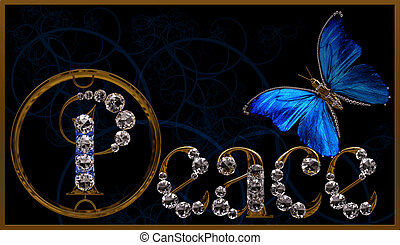 """Peace - Inscription \""""Peace\"""" made from diamond letters"""
