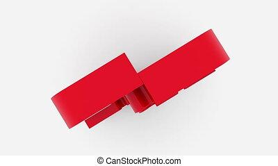 inscription, puzzle, amour, rouges, morceaux