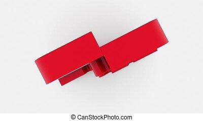 inscription, puzzle, vente, rouges, morceaux