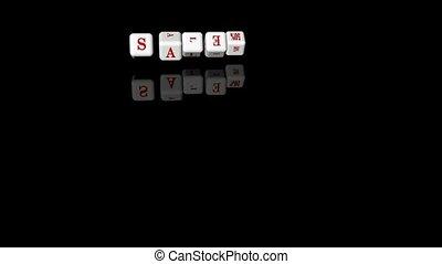 Inscription sale on the dice