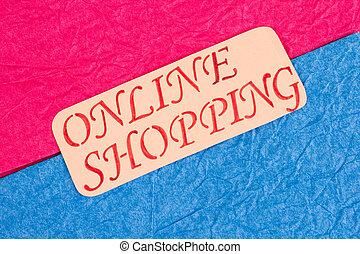 inscription, shopping., carte, ligne