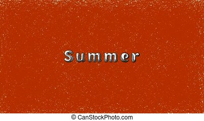 Inscription Summer on an orange grunge background