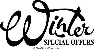 Inscription Winter - Special Offers. Winter design element