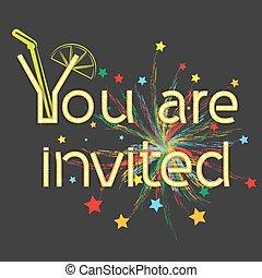 inscription you are invited