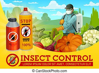 Insect and pest control, agriculture