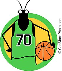 insect backet player icon - Creative design of insect backet...