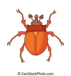 Insect bug icon, cartoon style