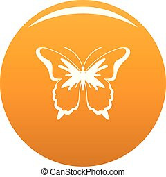 Insect butterfly icon vector orange