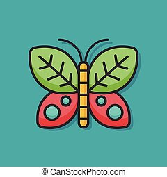 insect butterfly vector icon