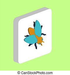 Insect Fly computer symbol for your business project