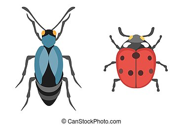Insect icon flat isolated vector illustration.