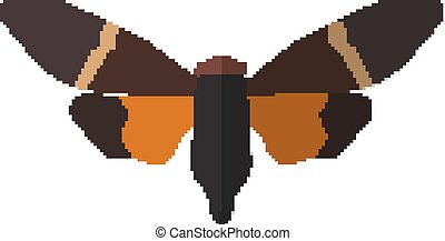 Insect icon in flat style isolated on white background. Vector illustration eps10