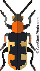 Insect icon in flat style isolated on white background. Vector