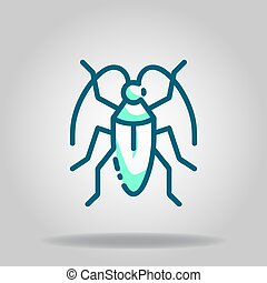 insect icon or logo in  twotone - Logo or symbol of insect ...