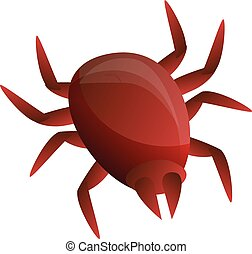Insect mite icon. Cartoon of insect mite vector icon for web design isolated on white background