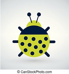 Insect or bug tor illustration, isolated on white background...