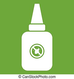 Insect spray icon green