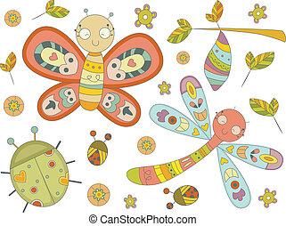insecte, doodles