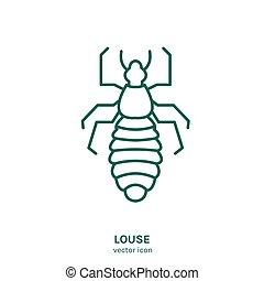 insecte, icône, vecteur
