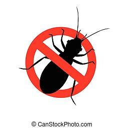 insecte, interdit, pou