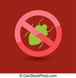 insectes, symbole, pou, enlever
