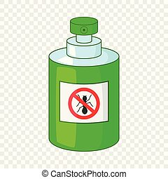 Insecticide icon, cartoon style - Insecticide icon. Cartoon...