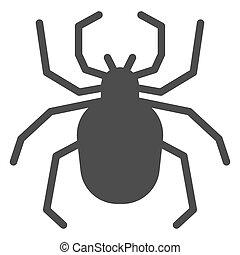 insectos, asustadizo, icono, glyph, arácnido, concepto, ...