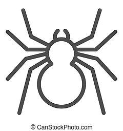 insectos, línea, icono, arácnido, concepto, señal, estilo, ...