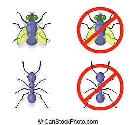 insects., 白, バックグラウンド。, に対して, 蟻, 飛ぶ, 国内の戦い