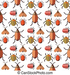 Insects bug vector seamless pattern bugs insects wallpaper...