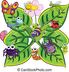 insects on the leaves